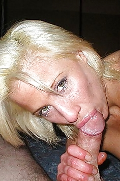 Blonde reifen oral sex mit großen Schwanz