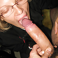 Brillen blonde amateur blowjob - Bild