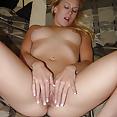 Blonde Mature saugt der amateure Pimmel - Bild